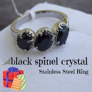 Jewelry - Rare Black Spinel Crystal Ring